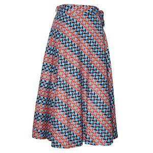 Dresses & Skirts - Dashiki cotton wax print wrap skirt one size fit